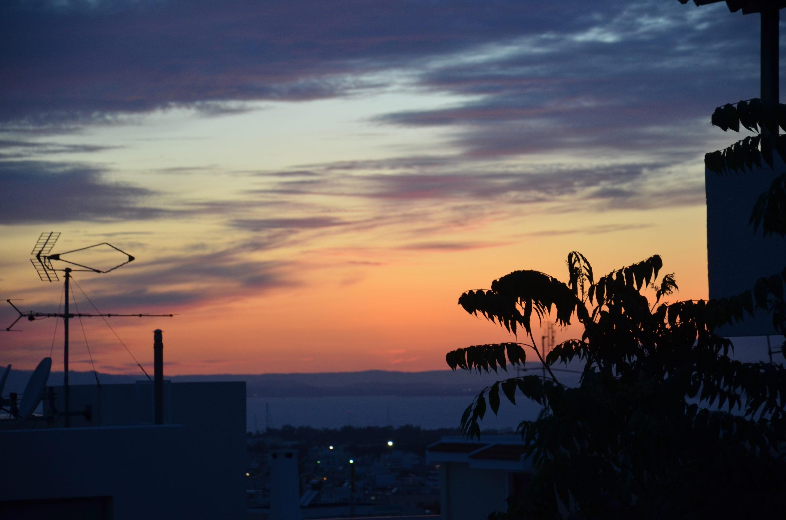 Zonsondergang in Glyfada