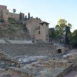 Het Romeins theater in Malaga, vroeg in de ochtend.